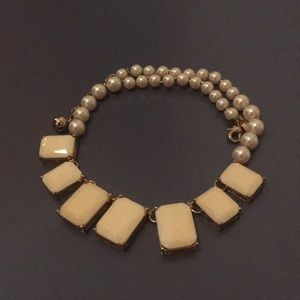 Kate Spade Creamy White Statement Necklace